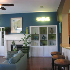 Contemporary Family Room by PaintColorHelp.com Dallas