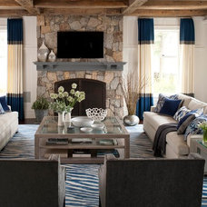 Contemporary Family Room by MuseInteriors