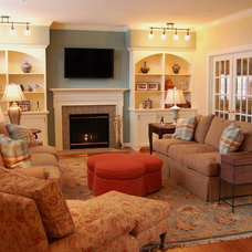 Traditional Family Room by Meredith Ericksen