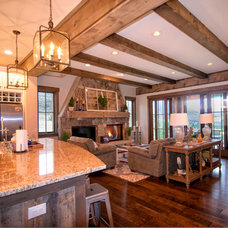 Rustic Family Room by Trestlewood