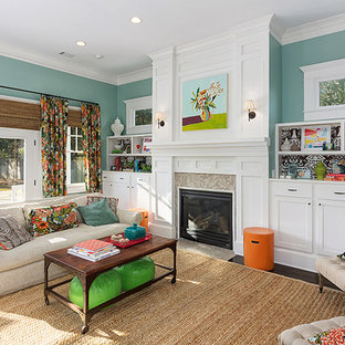 Colorful and Cheery Family Room