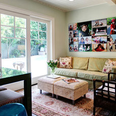 Transitional Family Room by Stephanie Wiley Photography
