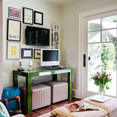 eclectic family room by Stephanie Wiley Photography