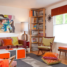 Midcentury Family Room by Kropat Interior Design