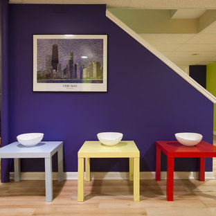 Colorful Modern Basement