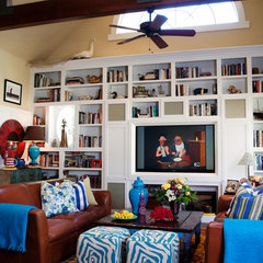 eclectic family room by Darci Goodman Design