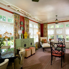 Eclectic Family Room by Creative Wallcoverings & Interiors