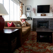 Traditional Family Room by Simply Home Decorating