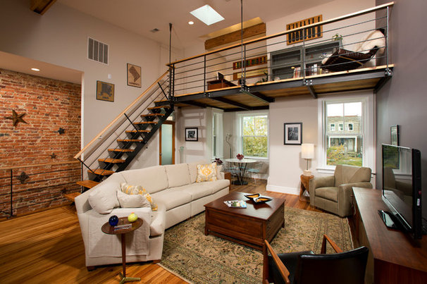 Industrial Living Room by Four Brothers LLC