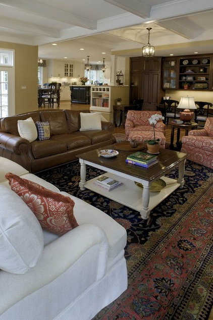 Traditional Family Room by Michael Matrka, Inc