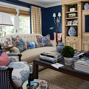 Comfortable French Country Modern Family Room in St. David's, PA