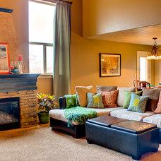 Eclectic Family Room by Design Hintz Interior Design