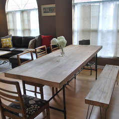 Reclaimed Wood Pipe Dining Table