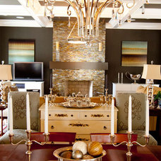 Eclectic Family Room by Zimmerman Interiors