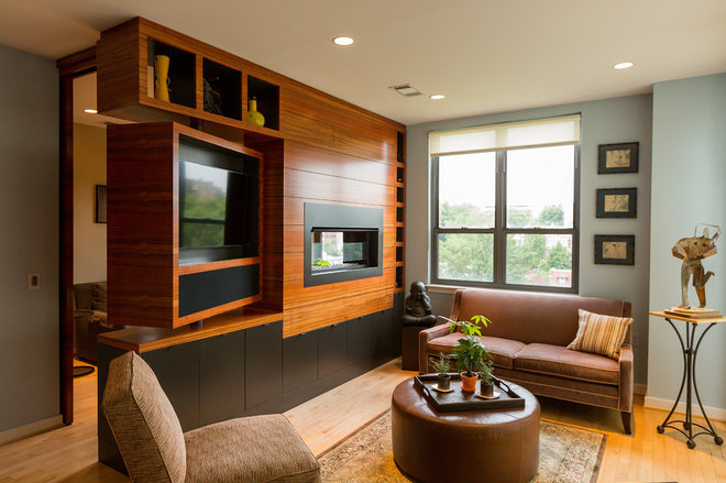 Contemporary Family Room by Amy Herbert, Aesthetic Answers LLC