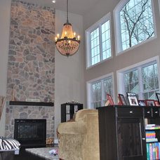 Traditional Family Room Connecticut New House