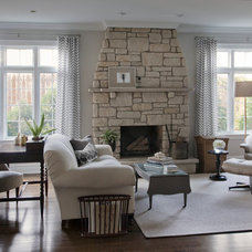 Transitional Family Room by CCG Interiors, LLC.