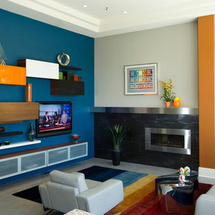 """""""Contemporary Color"""" Kitchen & Family Room"""