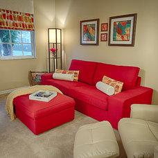 Contemporary Family Room by Zajac Interiors, LLC