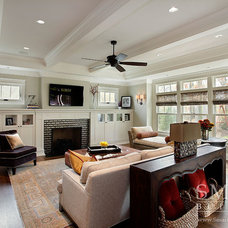 Craftsman Family Room by SMART Construction Group, Ltd.