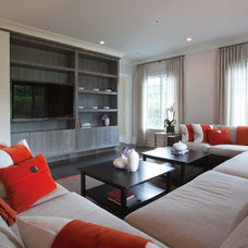 Contemporary Family Room by The Architect's Studio - Mark A. Pavliv, AIA