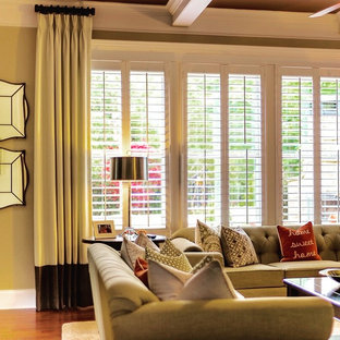 Contemporary Drapes, Family Room, Alpharetta GA