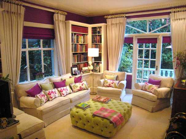 Contemporary Family Room by Julianne Kelly