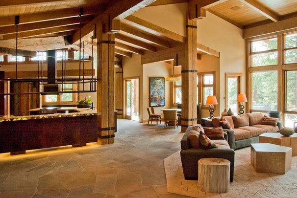 Contemporary Family Room by BARRETT STUDIO architects