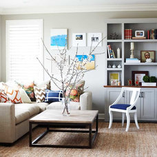 Contemporary Family Room by Cecy J Interiors
