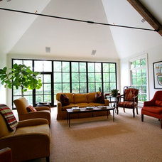 Contemporary Family Room by Clark & Zook Architects, LLC