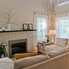 Contemporary Family Room by Clever Home Design LLC