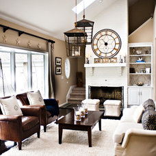 Contemporary Family Room by Coastal Haven Design