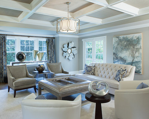 Transitional family room houzz for Transitional living room decor
