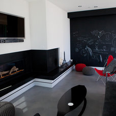 Contemporary Family Room by Dupuis Design