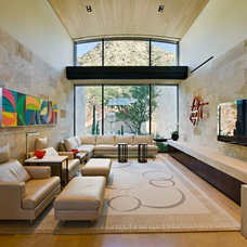 Contemporary Family Room by Elizabeth A Rosensteel Design Studio
