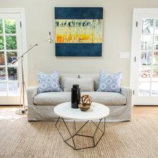 Contemporary Family Room by Evars + Anderson Interior Design