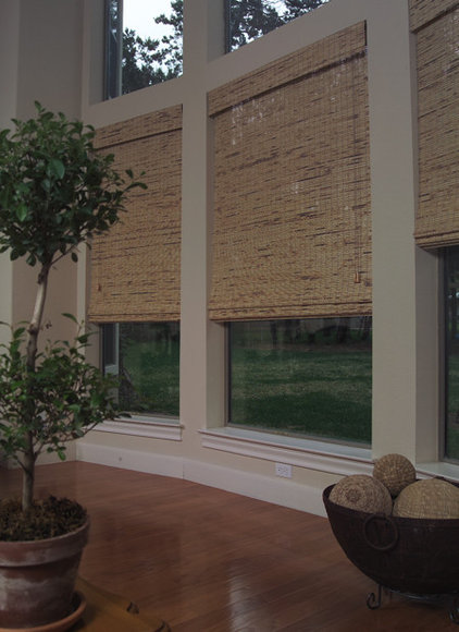 Contemporary Family Room by FUA Window Coverings
