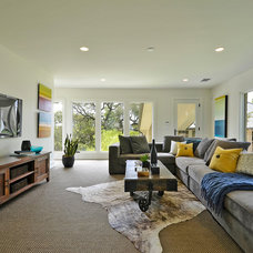 Contemporary Family Room by Saavedra Design Studio