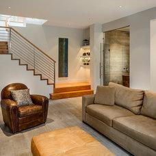 Contemporary Family Room by Joshua Lawrence Studios INC