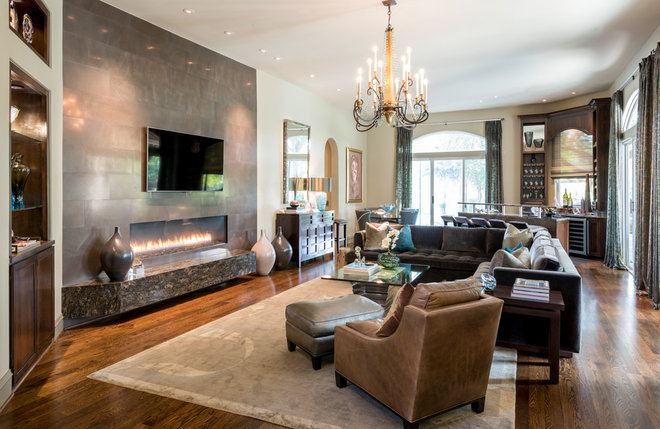 Contemporary Family Room by Kasper Custom Remodeling, LLC