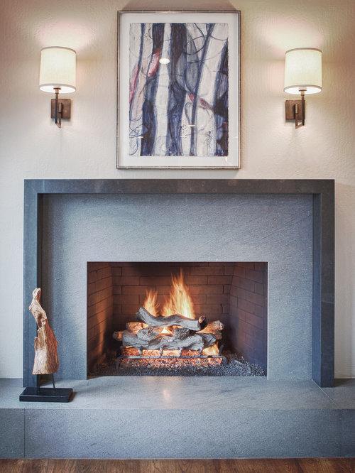 Travertine Stone Fireplace Houzz