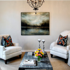 Contemporary Living Room by L. Pearson Designs
