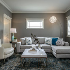 Contemporary Family Room by Leanne McKeachie Design