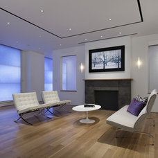 Contemporary Family Room by Leon Speakers, Inc.