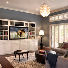 Contemporary Family Room by lisa rubenstein - real rooms design