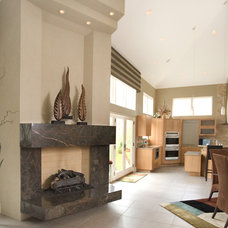 Contemporary Living Room by Martin Bros. Contracting, Inc.