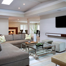 Contemporary Family Room by Megan Williams Interior Design
