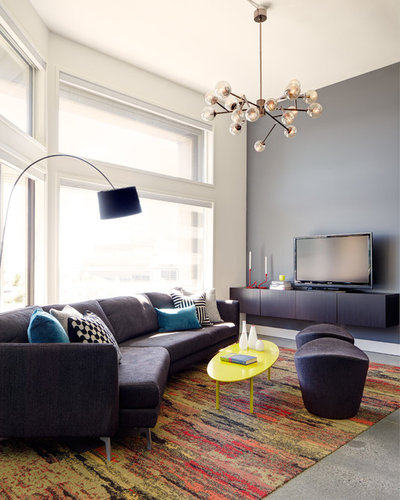 Contemporary Family Room by Michelle Dirkse Interior Design