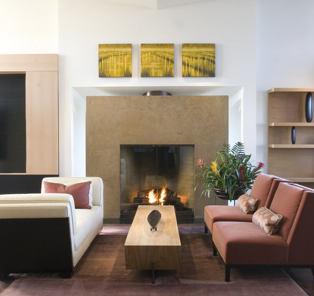 Houzz Fireplace Ideas: Could Your Living Room Be Better Without A Sofa?