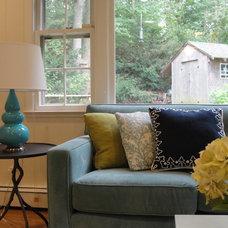 Contemporary Family Room by Vered Rosen Design